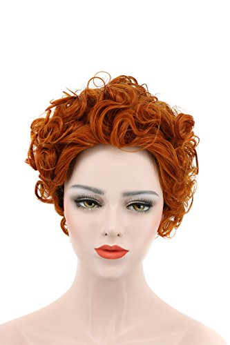 Karlery Women's Short Bob Curly Brown Wig Halloween Cosplay Wig Anime Costume Party Wig - 1050's Costumes