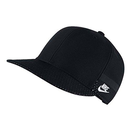 Nike Retro Hat - NIKE Youth's True No-Logo Snap-Back Hat Black/Black One-Size 840733-010