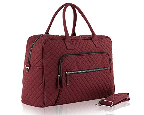 - Aletha Large Quilted Cotton Duffle Lightweight Travel Weekender Bag by Mia K. Farrow