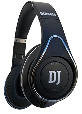 DJ Beats Stereo Headphones On-ear Noise Cancelling Bluetooth with Wireless Music Streaming and Hands-free Calling (Black)