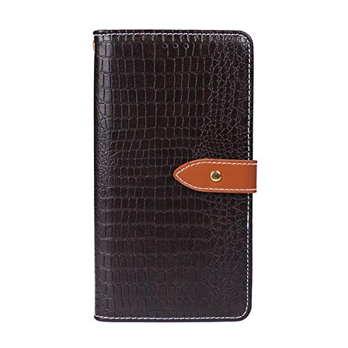 (Scheam Huawei Mate 10 Pro Wallet Multi Card Holder Pouches Pouches Folio PU Leather Cover with Pouches Case Compatible with Huawei Mate 10 Pro - Dark Brown)