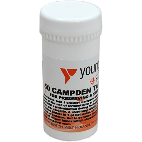 Youngs Campden Tablets 50 pk (Sodium Metabisulphate)