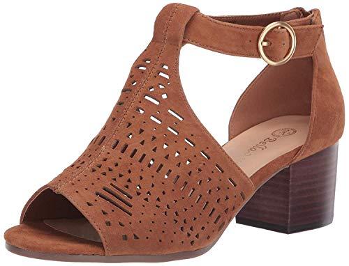 Bella Vita Women's Finn Cutout Sandal with Back Zipper Shoe, Biscuit Kidsuede Leather, 8 M US