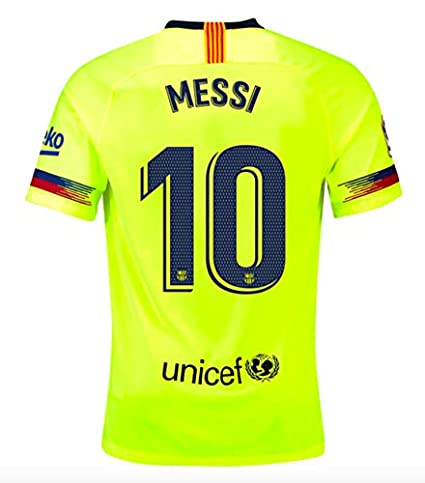 3eae9c1ed28fb Amazon.com : ProApparels Messi Youth Jersey Barcelona Away 2018/2019  (Official Jersey) : Sports & Outdoors