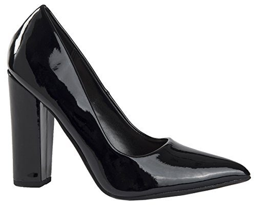 Leather And Velvet Pump - 1