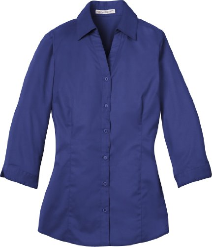 Autoridad Portuaria–Camiseta de manga 3/4para blusa. l6290 Azul Mediterranean Blue Large