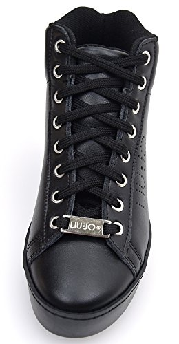 Nero Code Black With Shoes Sneaker Liu P0015 Black 40 Woman Jo Inside S66031 Wedge Leather 4qzIwBOxnZ