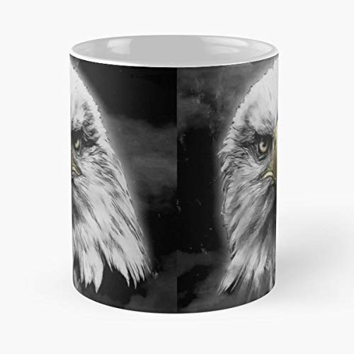 Eagle Bald Bird Of Prey Funny Christmas Day Mug Gifts Ideas For Mom - Great Ceramic Coffee Tea - Bald Eagle Legends