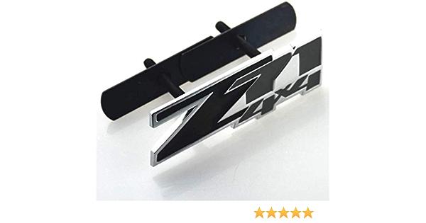 1PCS Grille Z71 4x4 Emblem Badge Fits For Chevy Silverado Sierra Tahoe Suburban Black