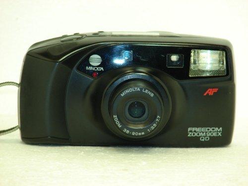 - Minolta Freedom Zoom 90ex Qd 35mm Film Camera W/minolta Lens Zoom 38-90mm 1:3.5-7.7 Lens (35mm Film Camera, Black Color, Made in Japan)