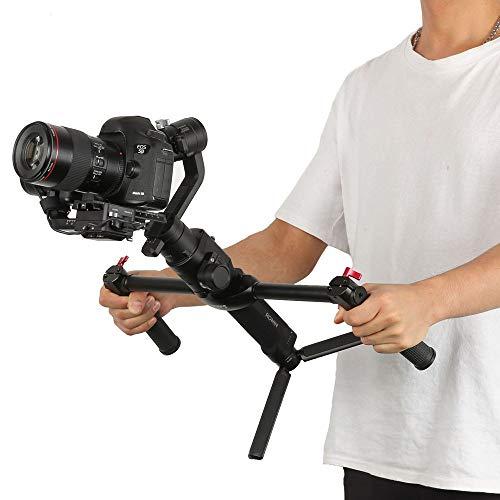 Lovewe Adjustable Dual Handle Grip, 1/4 Screw Connector Handheld Grip Kit for DJI Ronin-S Handheld Gimbal Stabilizer by Lovewe (Image #1)