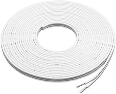 Speaker Wire 100 Feet 12 Gauge White Marine 2 Conductor Copper