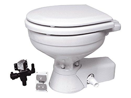 Jabsco 37045-0094 Electric 24 Volt Marine Toilet Quiet Flush Head Compact Size
