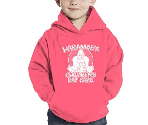 HAASE UNLIMITED Harambe's Children Daycare Hoodie Sweatshirt (Pink, -