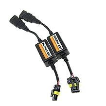 Car Rover Car LED Headlight Canbus Error Free Plug & Play Computer Warning Canceller & Anti Flicker - 9005, 9006, H10