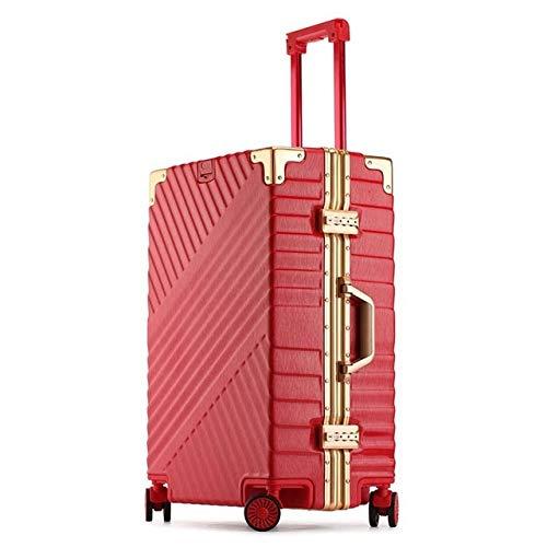 SPRINGYOU 高容量クリエイティブローリング荷物スピナースーツケースホイール 20 インチ黒キャビントロリーアルミフレーム旅行バッグ 20\ レッド B07QWWXKMQ
