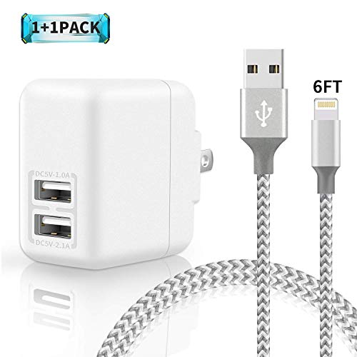 Aonsen Phone Wall Charger 24W 3.1A Dual Port USB Travel Wall