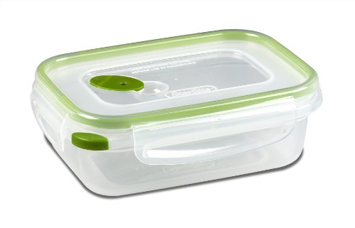 Sterilite 03111606  Ultra Seal 3.1-Cup Rectangle See-Through Lid and (Accents New Leaf)