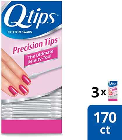 Q-tips Cotton Swabs, Precision Tip, 170 Count (Pack of 3)