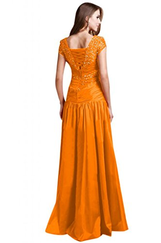 maniche A Arancione da da line da sera donna elegante abiti sposa Sunvary con perline abiti XqaAgA