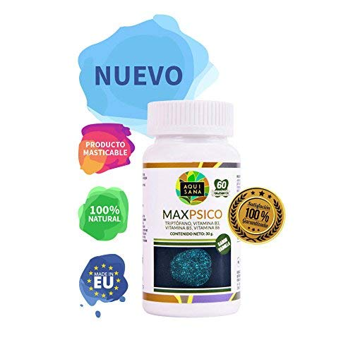L triptófano masticable con vitaminas B3, B5 y B6https://amzn.to/2QHM906
