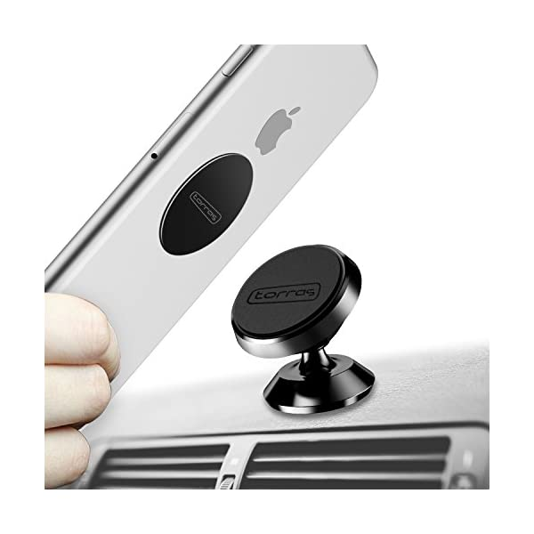 TORRAS Magnetic Car Mount Holder, Universal 360° Rotation Car Phone Holder, Dashboard Mount, Cell Phone Car Cradle For Phones, GPS Or Light Tablets, IPhone X / 8/7 / 6/5 Galaxy S7 / S6