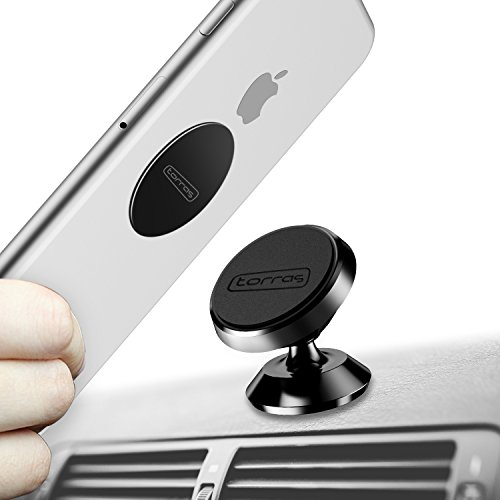 TORRAS Magnetic Car Mount Holder, Universal 360° Rotation Car Phone Holder, Dashboard Mount, Cell Phone Car Cradle for Phones, GPS or Light Tablets, iPhone X / 8 / 7 / 6 / 5 Galaxy S7 / S6