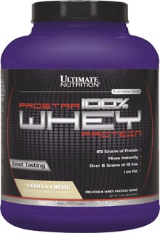 Ultimate Nutrition Prostar Whey Protein, Vanilla Crème, 5.28 Lb. Tub