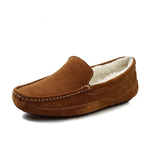 Santimon-mens Comode Scarpe Da Guida In Pelle Opaca Mocassini Morsetto Mocassini Da Donna