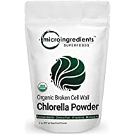 Organic Chlorella Powder 8 Ounce, Superfoods for Rich Vitamins, Proteins, Chlorophyll, Minerals, Amino Acids, Fatty Acids and Fiber, Strongly Support Immune System, No GMOs and Vegan Friendly