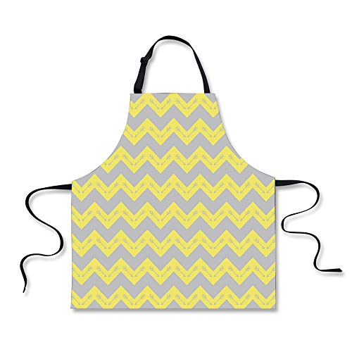 iPrint Cooking Apron,Chevron,Zig Zag Pattern with Tribal Nat