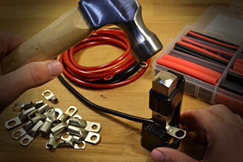 Hammer Battery Lug Crimping Tool for 8, 6, 4, 2, 1/0, 2/0 American Wire Gauge (AWG) Wire and Cable