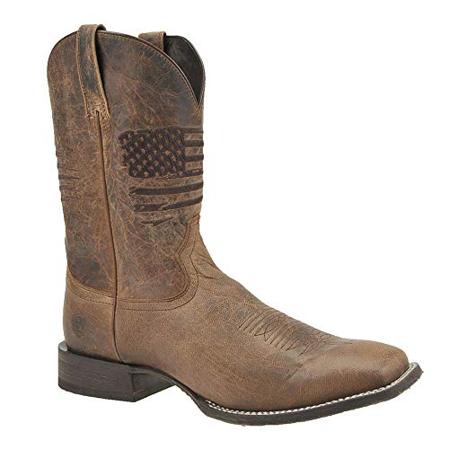 ARIAT Men's Circuit Patriot Western Boot Square Toe Distressed Brown 10.5 D from ARIAT