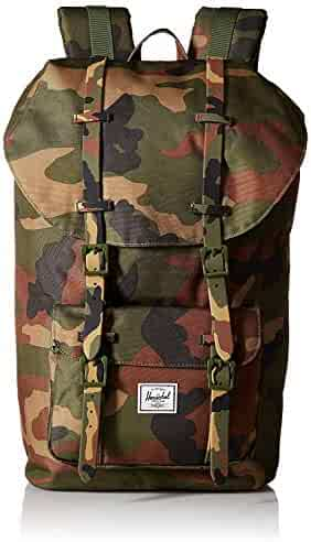 Little America Backpack - Woodland Camouflage Camouflage Rubber Straps 4cba38142e