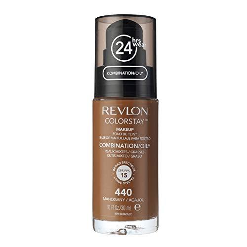 (Revlon Colorstay SPF 15 Makeup Foundation for Combination/Oily Skin, Mahogany, 1)
