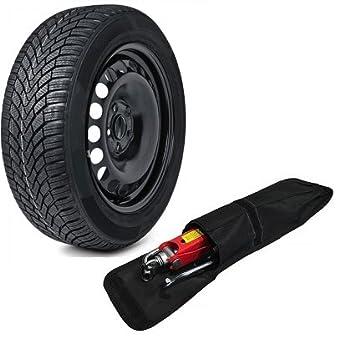 Rueda de repuesto y kit de herramientas 185/60R15 (compatibilidad no garantizada con vehículos con conductor en lado izquierdo): Amazon.es: Coche y moto