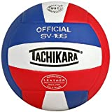 Image of Tachikara SV18S Composite Leather Volleyball (Red White and Blue)