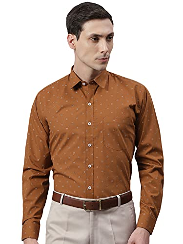 Arihant GHPC Printed 100% Cotton Full Sleeves Regular Fit Formal Shirt for Men