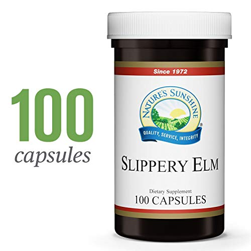 - Nature's Sunshine Slippery Elm, 100 Capsules | Slippery Elm Capsules to Soothe The Digestive Tract and Relieve Digestive Discomfort with The Power of Slippery Elm Bark