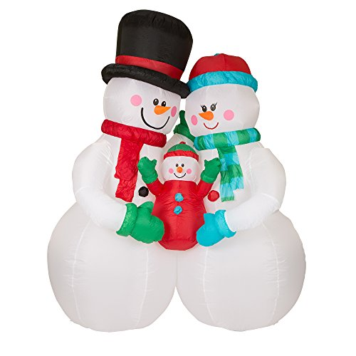 Outdoor Lighted Snowman Family - 3