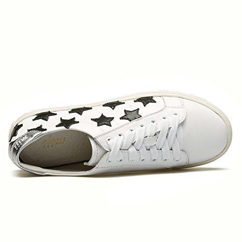 zapatos bajos del cordón de las mujeres/zapatos ocasionales de costura de la estrella/zapatos pesados de fondo coreanos B