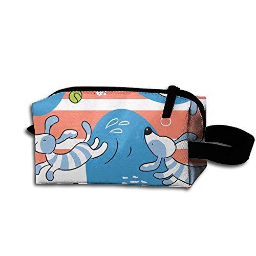 Cosmetic Bag Novelty Organizer Women's Travel Stripe Case Accessories Dachshund Tolietry 47UnXw