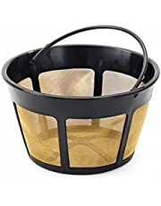 NRP (Taller) 12-cup Screen Bottom Permanent Coffee Filter Replacement for KitchenAid Coffeemaker & More Brands