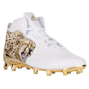 Adidas Adizero 5Star 5.0 Uncaged Mid Mens Football Cleat 12.5 Cheeta-White-Gold