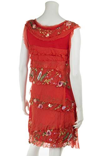 36 mit 40 Mia für Cara Seide Blumenmuster Sommerkleid Farben Rot Leichtes 38 Damen Viele 4vqxxXZw