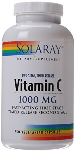 Stage 2 Antioxidant (Solaray C Two-Stage Timed Release Supplement, 1000mg, 250 Count)