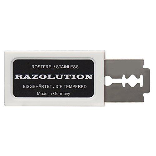 RAZOLUTION Rasierklingen - 10 Stück zum sehr günstigen Angebotspreis - Made in Germany
