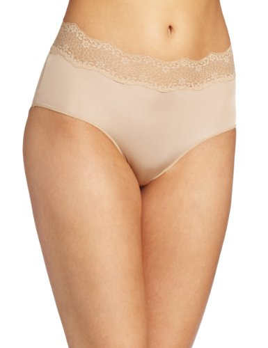 Le Mystere Women's Perfect Pair Brief Panty, Natural, Medium