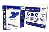 Yuwa 1 Inch White Hook and Loop Magic Tape Sew-On