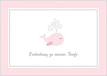 Einladungskarte Zur Taufe U0026quot;Einladung Zu Meiner Taufeu0026quot;  (Klappgrußkarte / Grußkarte / Baby
